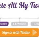 Como borrar todos tus Tweets en solo dos clics.