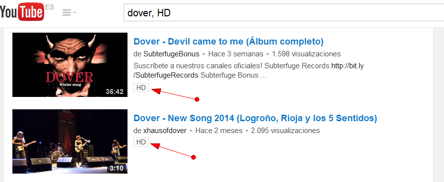 como buscar videos hd en youtube