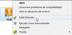 iobit unlocker menu contextual