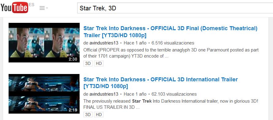 como ver videos 3d en youtube