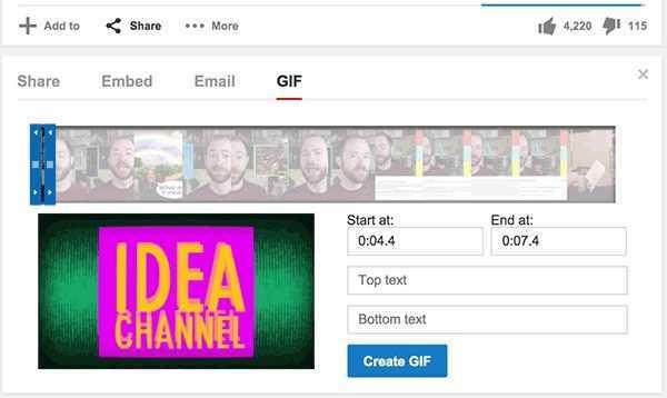 crear gif animados con youtube