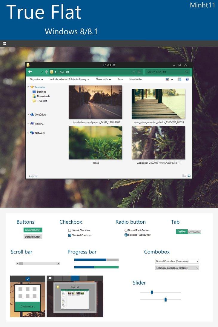 true flat tema para windows 8.1