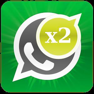 Dos cuentas de WhatsApp en un teléfono