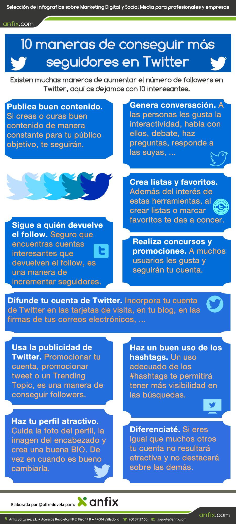 ganar seguidores en Twitter