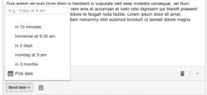 Programar envio emails en Gmail