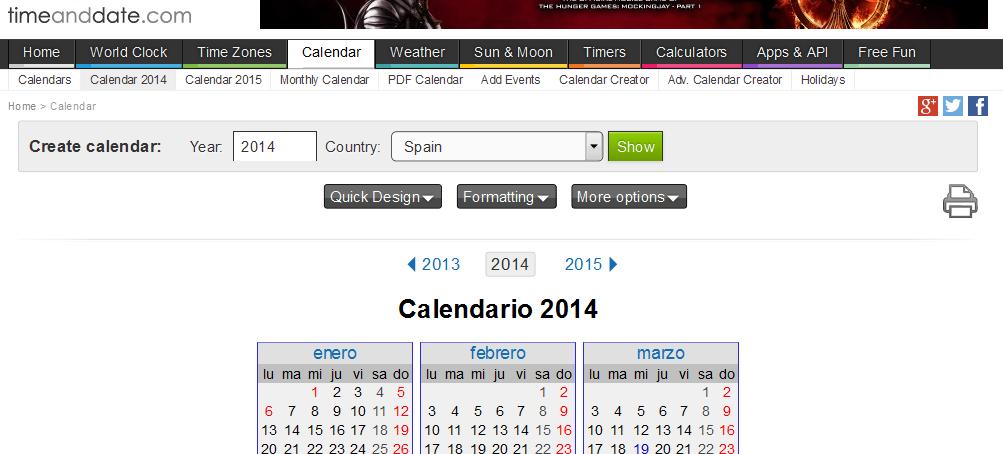 crear calendarios
