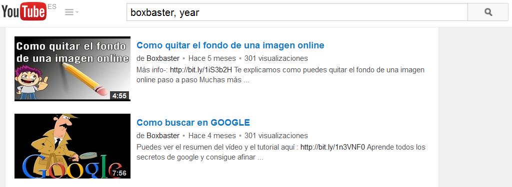 filtrar por fecha en youtube