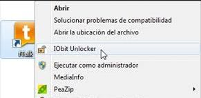 iobit unlocker menu contextual
