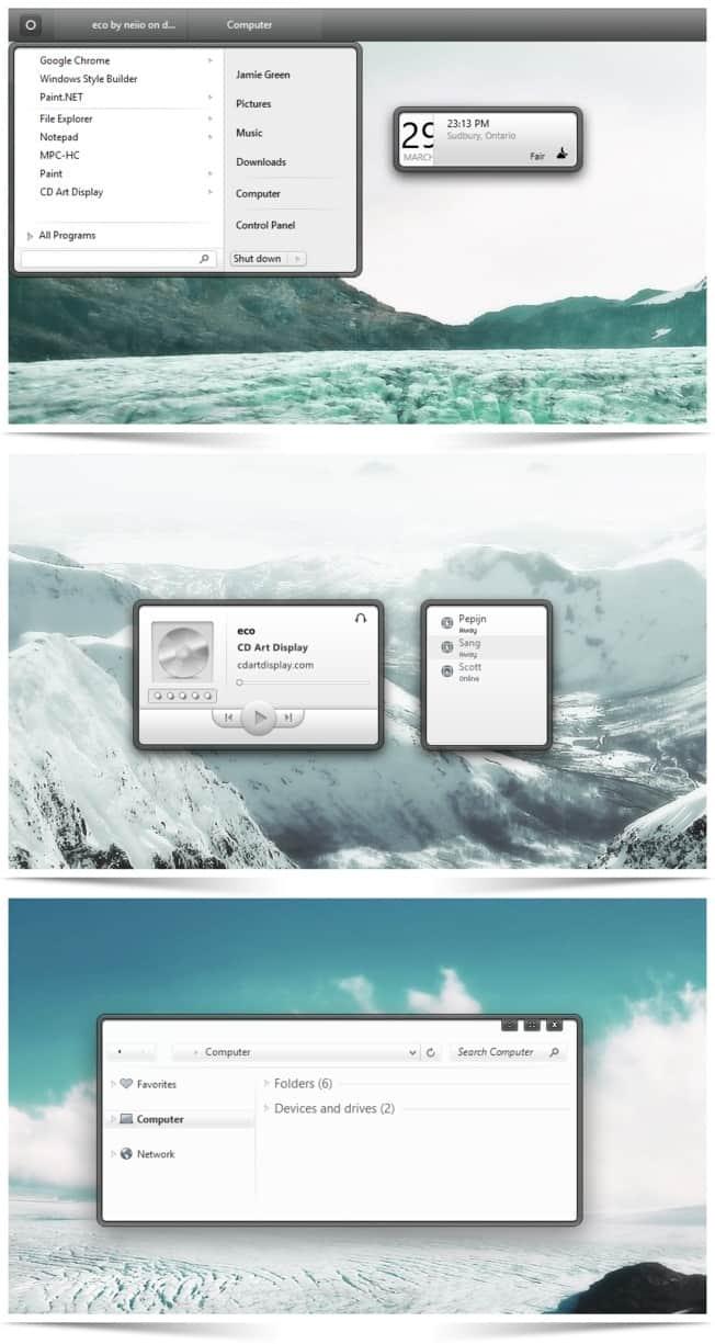 tema eco para windows 8.1