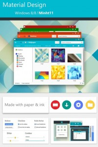 Material Design tema windows 8.1