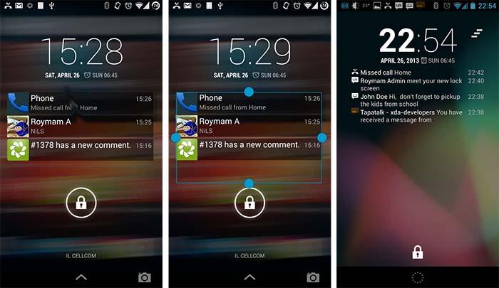 notificaciones android en la pantalla de bloqueo