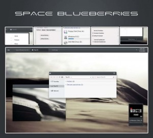 Space Blueberries tema win 8.1