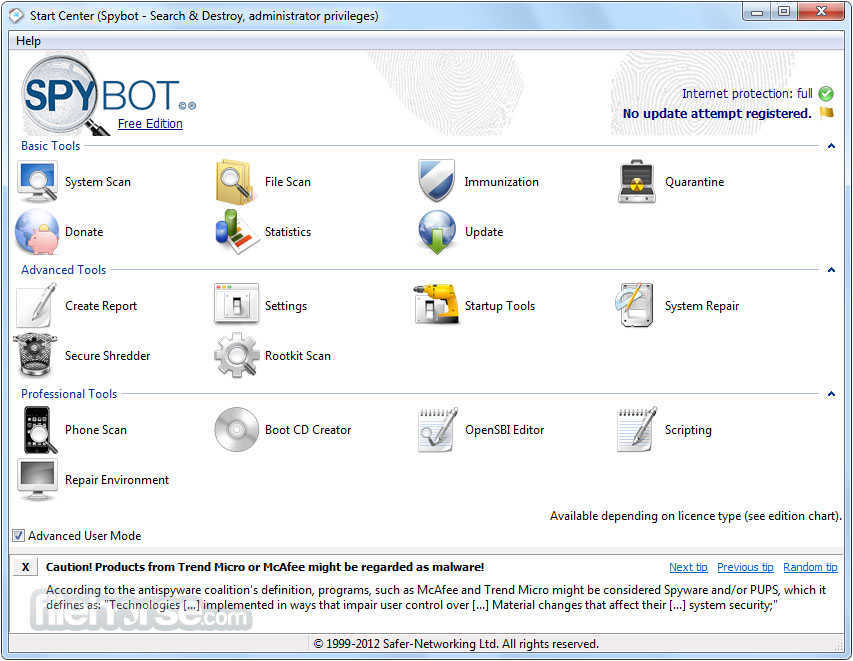 Spybot – Search and Destroy
